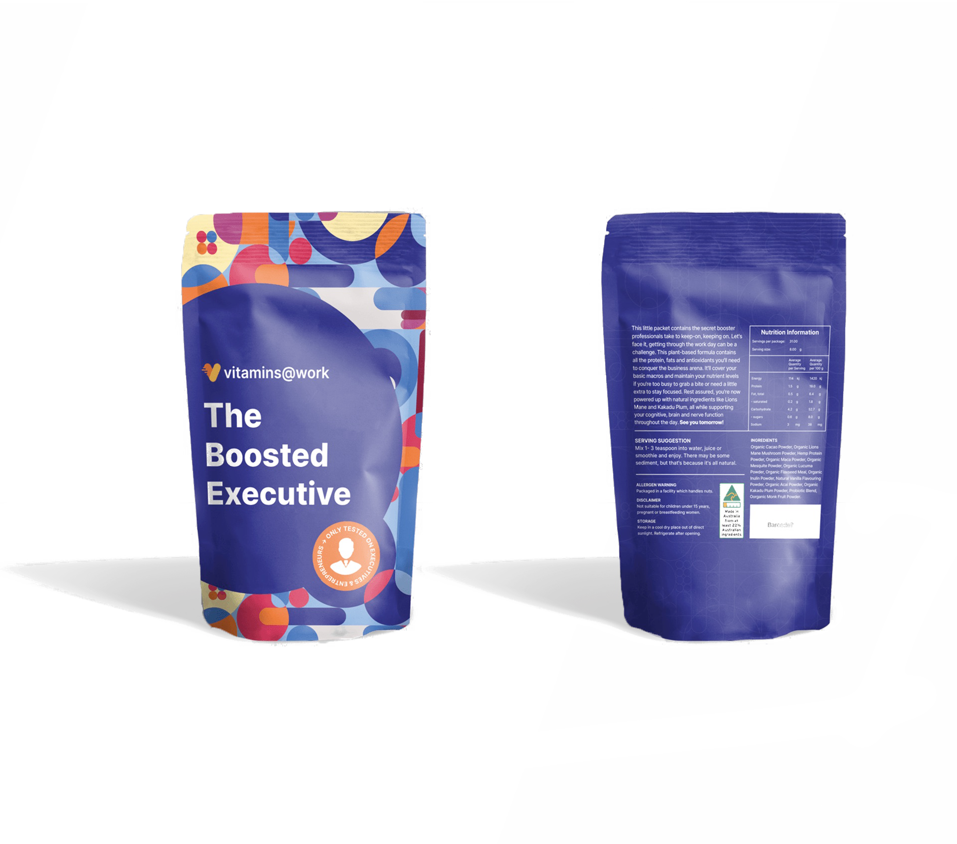 Mockup of packaging design after it has been designed by Persuaders