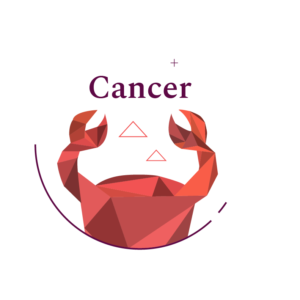 red geometric crab symbol for cancer