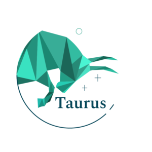green geometric taurus bull symbol