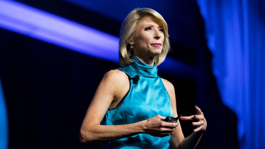 Amy Cuddy speaking on stage