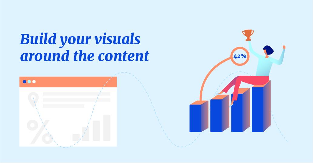 visuals around the content